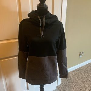 Women's ASICS hoodie blk/gry size Large